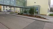 Nadzemní spojovací koridor pavilonu Q Nemocnice Písek.